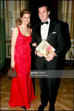 Prince Charles Philippe of Orleans and Duchess Diane De Cadaval - Gala dinner for the international night of childhood 2006 at the 'Chateau De Versailles'.