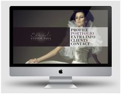 Fashion Photography Website | stevenphotography.com by LOUDSPARKS, via Behance