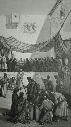 Phillip Medhurst presents detail 213/241 Gustave Doré Bible The Marriage in Cana John 2:5-7