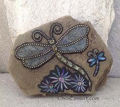 Mosaic Dragonfly Garden Stone | Flickr - Photo Sharing!