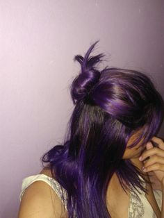Luzes cabelo roxo