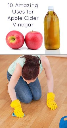 Have you ever tried apple cider vinegar? You can actually drink it straight from the bottle, though you might prefer to add it to other things. There are many health benefits of apple cider vinegar: it Apple Health Benefits, Apple Cider Benefits, Cleaners Homemade, Diy Cleaners, House Cleaners, Cleaning Solutions, Cleaning Hacks, Apple Cider Vinegar Uses, Muscle Soreness