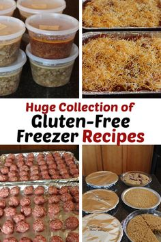 Need some easy gluten free freezer meals? I put together a huge list of gluten free freezer recipes. It includes breakfast, dinners, desserts, and more. Gluten Free Recipes For Dinner, Foods With Gluten, Gluten Free Cooking, Sans Gluten, Dairy Free Recipes, Gluten Free Frozen Meals, Gluten Free Meal Plan, Eating Gluten Free, Gluten Free Recipes Crock Pot