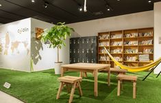 Coworking Space - cocolin, Sendai City, Japan useful lockers Coworking Space, Corporate Interiors, Office Interiors, Agency Office, Innovative Office, Commercial Office Design, Breakout Area, Workspace Design, Co Working