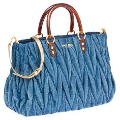 miumiu totes denim bag