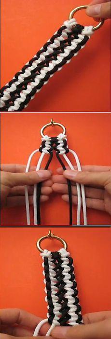 """Красивая плетеная ручка для вязаной сумки """"Соломонова полоса""""_очень легко сделать."""