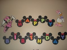 Cute jumping off point for a mickey party banner...of course I would have to take it about 1000 steps further!!!!
