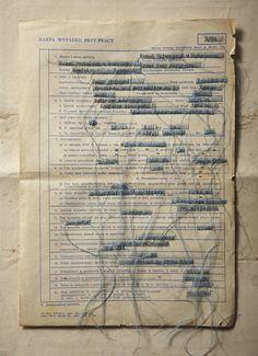 Ania Wawrzkowicz ambiguous documents - amazing statement of absence & loss www.aniawawrzkowicz.com