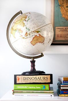 No home should be without a globe. How else will you figure out where you'll live when you grown up if you can't close your eyes, spin a globe, point, and let the globe gods tell you?