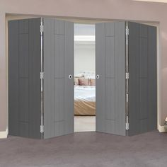 Thrufold Nuance Ardosia Slate Grey Flush 2+2 Folding Door - Pre-finished .    #greydoors #foldinginternaldoors #foldingdoors #thrufolddoors #interiordoors #doordesign #directdoors