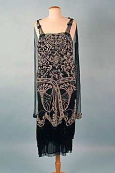 Crystal Beaded Dress, 1920s.