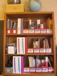 Bookcase homeschool organization