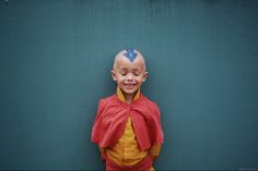 Aang cosplay. - So maybe he's not the best Aang, but look how happy he is to be Aang. :'D