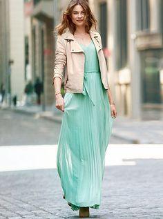 Knife-pleat Maxi Dress | Victoria's Secret - but in Emerald, Milk, or Ink Blot