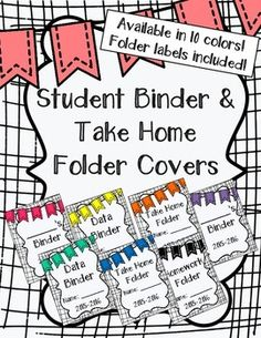 Student Binder & Take Home Folder Covers (w/ Folder Labels! Student Binder Covers, Binder Covers Free, Star Binder, Home Binder, School Classroom, Classroom Setup, Classroom Freebies, Classroom Projects, Reading Binder