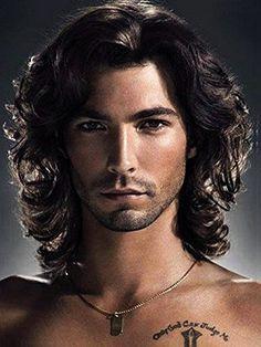 Menoqi Mens Black Curly Wig Heat Resistant Hair Wigs Natu.