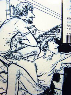 The Comics Journal - cover detail, Gabriel Ba & Fabio Moon Gabriel, Fabio Moon, Comics Illustration, Moon Art, View Image, Artsy Fartsy, Anatomy, Illustrator, Concept Art