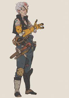 ArtStation - A Long Journey - Aylah, Wouter Gort Female Character Design, Character Creation, Character Design References, Character Design Inspiration, Character Concept, Character Art, Concept Art, Cyberpunk Character, Cyberpunk Art
