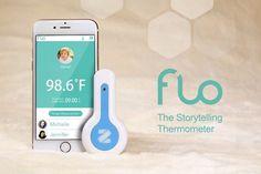 """""""おでこ""""にかざして使うスマート体温計「Flo」--赤ちゃんや子どもに最適 - CNET Japan"""