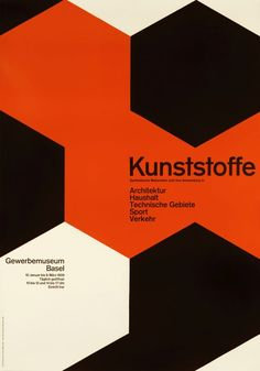 Kunststoffe (Plastics & its Uses) - Gewerbemuseum Basel by Lohse, Richard P.   International Poster Gallery