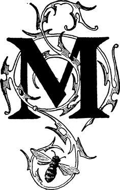 Letter M 1895