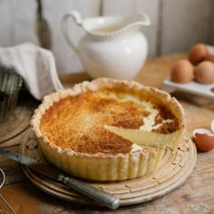 Traditional Baked Milk Tart (makes 2 medium or 1 large tart)  -  (photography by Tasha Seccombe)