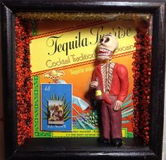 Muerto Day of the Dead Shrine Agave Tequila by muerto2go on Etsy, $45.00