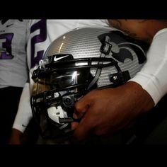 High School helmet w/ powercat logo