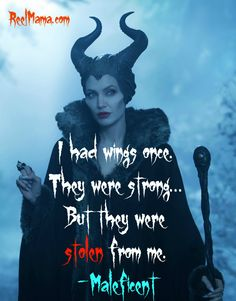 """Disney's Maleficent quote: """"I had wings once, but they were stolen from me."""" #Maleficent"""