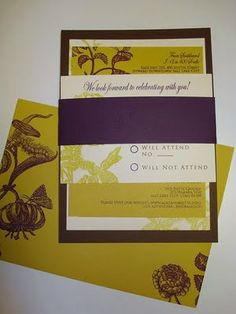 6. Invite inspiration: Goes with the color theme and has garden flowers!  #modcloth  #wedding