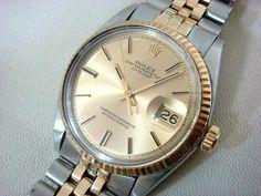 ロレックスデイトジャスト1601コンビK18 SSアンティーク 時計 Watch rolex ¥140000yen 〆04月30日