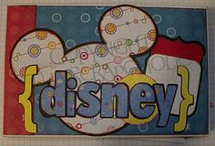 Disney Mini Scrapbook Album - would make a cute title for a full sized book too.