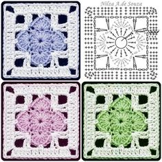 Flower square with diagram ~k8~