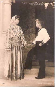 Queen Marie of Romania with her first son Crown Prince Carol (future King Carol II) of Romania.