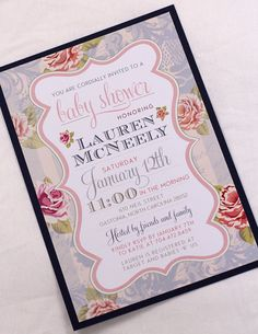 Baby Shower Invitations from http://www.etsy.com/shop/AMGDesignCo?ref=si_shop