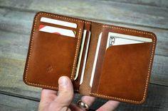 credit card wallet Handmade Slim Credit Card Leather Wallet Gift for Him Minimal Wallet, Simple Wallet, Minimalist Leather Wallet, Small Leather Wallet, Handmade Leather Wallet, Leather Card Wallet, Slim Wallet, Leather Wallets, Edc Wallet