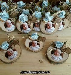 Discover thousands of images about Fotoğraflı Bebek Magnet - Boy Baptism, Christening, Baby Decor, Baby Shower Decorations, Baby Crafts, Diy And Crafts, Baby Shawer, Kids And Parenting, New Baby Products