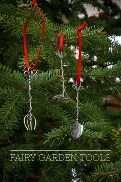 These DIY Fairy Garden Tools are Hugely popular on Hometalk. Now you  don't have to make them yourself. Buy this set of 3 Sterling Silver tools for $39.99. http://shop.livedan330.com/products/fairy-garden-tools-set-of-3