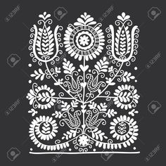 Floral Folk Ornament, Vector Illustration Royalty Free Cliparts, Vectors, And Stock Illustration. Image 51171580.