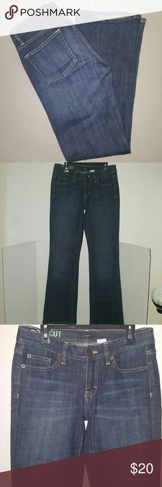 J. Crew boot cut jeans size 27S J. Crew boot cut jeans Dark wash 98% cotton 2% spandex  Size 27S Inseam- 30 inches  Waist laid flat- 14 inches J. Crew Jeans Boot Cut