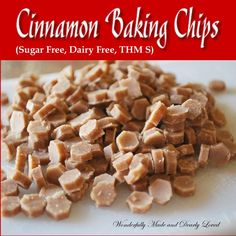 Sugar Free Cinnamon Baking Chips add a new dimension to your baking arsenal. These chips make baking with alternative flours and sweeteners even sweeter!
