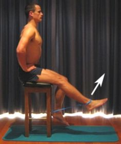Knee Strengthening Exercises - Resistance Band Knee Extension in Sitting