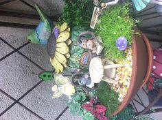 Moms fairy gardens