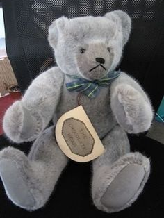 """Chocolate Bear by Catherine Bordi - Gray color 1983  18"""" Mint Condition  #CatherineBordi"""
