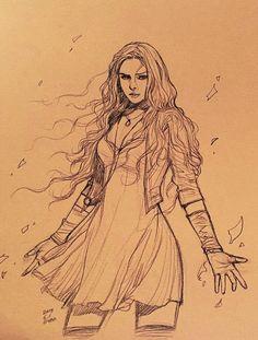 Drawing Wanda Maximoff