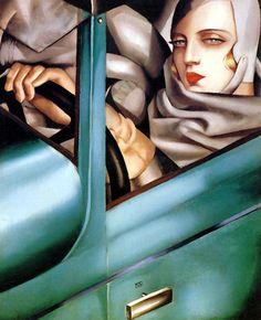Tamara de Lempicka  Tamara in the Green Bugatti, 1925