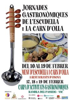 Jornades gastronòmiques de l'escudella i la carn d'olla    #turistesdequalitat #tdq