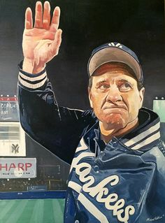 Joe Torre New York Yankees World Series Painting watercolor on Aqua Board by Michael Pattison, Baseball Painting, Baseball Art, Yankees Fan, New York Yankees, Joe Torre, Yankees World Series, Minor League Baseball, Major League, Mlb Players