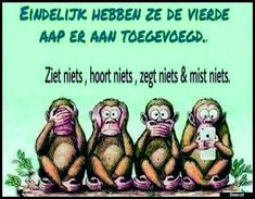 Eindelijk hebben ze de vierde | Funny Pix, Funny Pictures, Hilarious, Funny Stuff, Funky Quotes, Dutch Quotes, Happy Birthday Funny, Sex And Love, Jokes Quotes