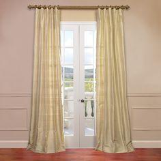 Textured Dupioni Silk Single Curtain Panel